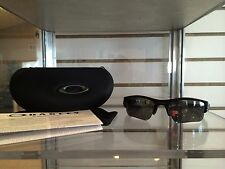 New Oakley Flak Jacket XLJ 12-903 Pol Black w/ Polarized Lens-100% REAL