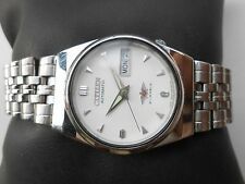 Rare Vintage CITIZEN MIDSIZE 32mm CALSSIC WHITE SS Gents Automatic WristWatch
