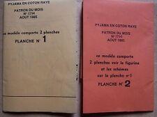 patron modes travaux 08/1985 femme, enfants, poupées Jean Michel Marie Françoise