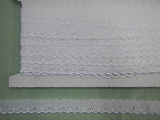 Broderie Anglaise Flat White  Lace - 10. metres (5546)