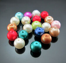 Free 50pcs Mixed color Glass Charm Round Loose beads spacer Crafts Design 8mm