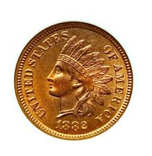 1882 INDIAN HEAD CENT 1C NGC MS66 RD, FULL RED, POP (5/0), PREMIUM QUALITY COIN!