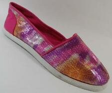 NEW Girls Youth's PARIS BLUES AZUSA PINK  Flats Slip On Loafers  Shoes SZ 13