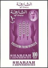 Sharjah 1963 fao/ffh/journée mondiale de l'alimentation/freedom from hunger/agriculture m/s (n44286)