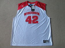 Wiscinsin Badgers NCAA Basketball # 42 Jersey Vest Shirt - Mens Extra Large NWT