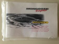 Mongoose Bicycle Owner's Manual Multi-Speed Bicycles & Product Registration Card