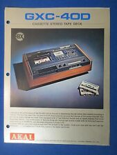 AKAI GXC-40D CASSETTE SALES BROCHURE ORIGINAL FACTORY ISSUE THE REAL THING