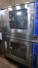 Cleveland self cook combi gas convection Oven Steamers full size double stacked