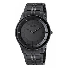 New Citizen Eco-Drive Stiletto Black Ion Steel Men's Watch AR3015-53E