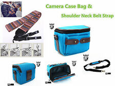 CF38u Camera Case Bag & Vintage Camera Strap for SONY NEX-5T NEX-5R NEX-5N NEX-5