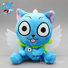 """New Cute Blue Happy Cat Anime Fairy Tail Soft Plush Doll Toy 6.3"""" Teddy Gift"""
