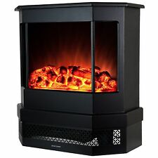 "23"" 2 Setting 1500W Adjustable Freestanding Electric Fireplace Heater Stove Logs"