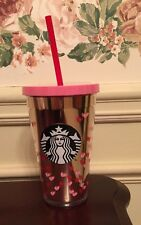Starbucks 2017 Valentines Day Tiny Hearts COLD CUP 16 oz ...NEW Pink