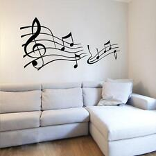 Fashion Big Music Note Pattern Decor Mural Art Wall Sticker Home Decal