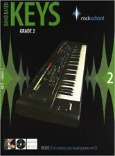 Rockschool: Band Based Keys - Grade 2. Sheet Music, CD for Keyboard, Excellent,