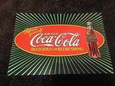 Refresh Yourself Drink Coca Cola Green- Red Tin Metal Wall Sign 1999