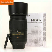 Nikon AF-S 55-300mm f/4.5-5.6 VR DX G ED Autofocus Lens +  Free UK Post