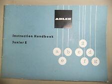 Instrucciones Máquina De Escribir Adler Junior E-cd/correo electrónico