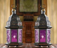 "Mulberry Moroccan Candle Lantern 10 1/4"" tall (Set of 2) Wedding Supplies 15221"