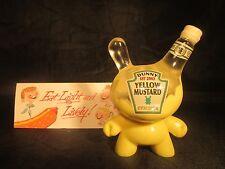 """kidrobot 3"""" Half Used Mustard Dunny Sket One & Dodgrr 31/50 SUPER RARE Sketchup"""