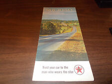 1966 Texaco New Jersey Vintage Road Map