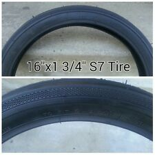 "ONE 16x1 3/4 S-7 Classic Black Bicycle Tires Schwinn bike 16"" X 1 3/4"" krate"