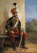 French Soldier Resting, Albrecht Adam 1850, 11x8 Inch Print
