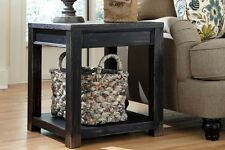 Black Finish Signature Design Ashley #T732-2 End Table Casual Wooden Living Room