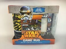 NIB Star Wars GAME RUG & PICTURE FRAME featuring Yoda, R2D2 C3PO Chewbacca