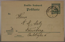 GERMAN SOUTH WEST AFRICA POSTCARD FROM NAMIBIA/OMARURU TO GERMANY 1902 5Pf#SP501