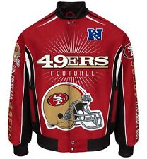 San Francisco 49ers Men's NFL G-III Burst Twill Jacket -Size Large Free Ship