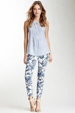 DKNY Jeans Kimono Floral Skinny Ankle Jeans 8 New