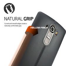 TPU Grip Bumper Corner Protection Soft Case Cover+REAL Tempered Glass for LG G4