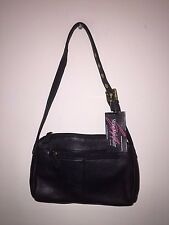 Stone Mountain Bags Hobo Leather Handbags Purse Black New With Tags