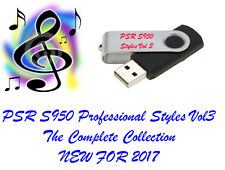 Yamaha PSR S950 PRO Styles and Midis USB Flash drive NEW for 2017