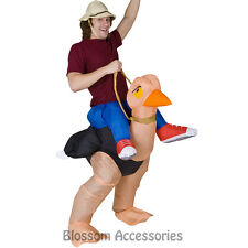 CL164 The Illusion Ollie Ostrich Rider Mens Fancy Dress Funny Adult Costume