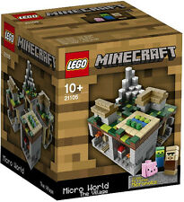 2013 LEGO 21105 MINECRAFT MICRO BUILD: THE VILLAGE  *NEW, RETIRED, GREAT GIFT!