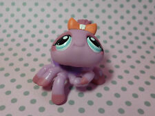 Littlest Pet Shop LPS #991 Rare Purple and Pink Spider w/ Blue Eyes & Peach Bow