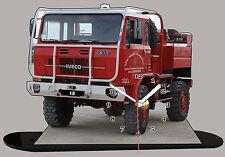 MINIATURE CAMION DE POMPIER UNIC, pompier-unic-02 en horloge