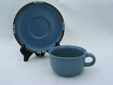 DANSK - MESA SKY BLUE - (4) CUPS & (4) SAUCERS - EXCELLENT CONDITION