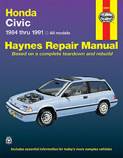 Haynes 42023 Service Repair Manual Honda Civic 1984 thru 1991 All Models