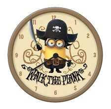 "OFFICIAL NEW 10"" DESPICABLE ME 2 CHILDRENS PIRATE MINION WALL CLOCK KID BEDROOM"
