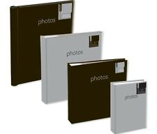 6'' x 4'' Gluebound 2Up Slipin Photo Album with Memo Area  - 200 PHOTOS SILVER