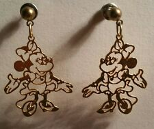 DISNEY MINNIE MOUSE GOLD TONE STUD EARRINGS