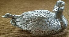 Vintage Arthur Court Metalware Covered Duck Soup Tureen Matching Ladle 1978