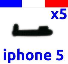 x5 cache anti-poussière NOIR lightning capuchon bouchon jack pour iphone 5 5C 5S