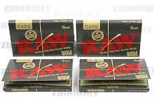 4 PACK Limited Edition RAW BLACK Single Wide Rolling Papers 100 leaves/400 total