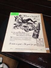 """Collectible RARE 1937 Hires Rootbeer """"What a Break"""" Ad"""