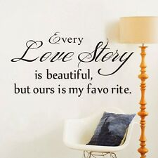 Love Story Removable Wall Sticker Mural Decal Art DIY Home Room Decor Vinyl
