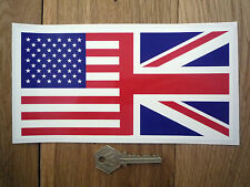 """Kombiniert USA & UNION JACK FLAGGE Aufkleber 8"""" Brothers in Arms"""